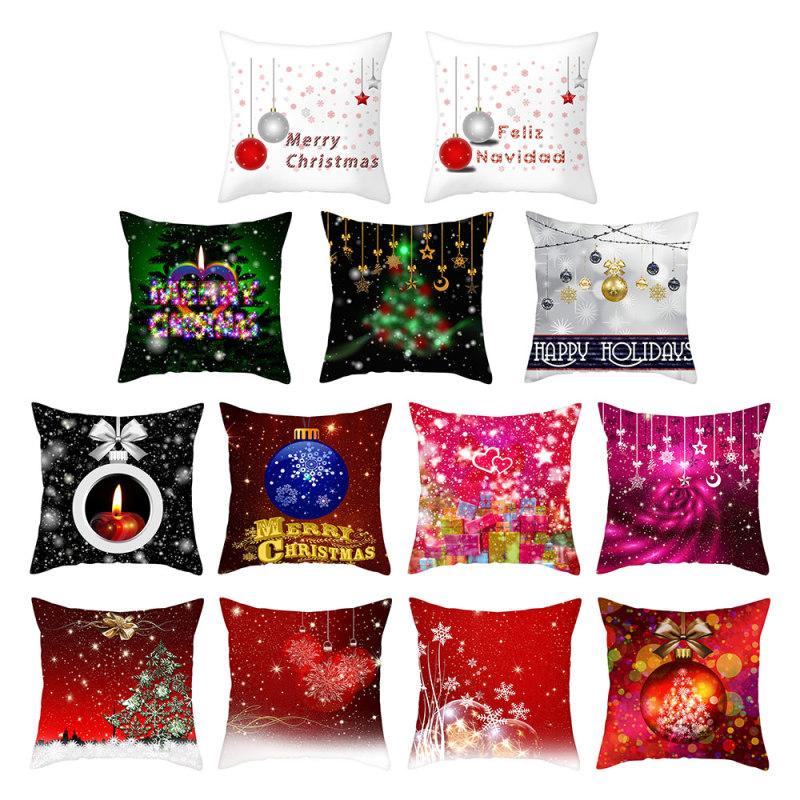 Наволочки nanacoba на рождественскую подушку наволочки с принтом