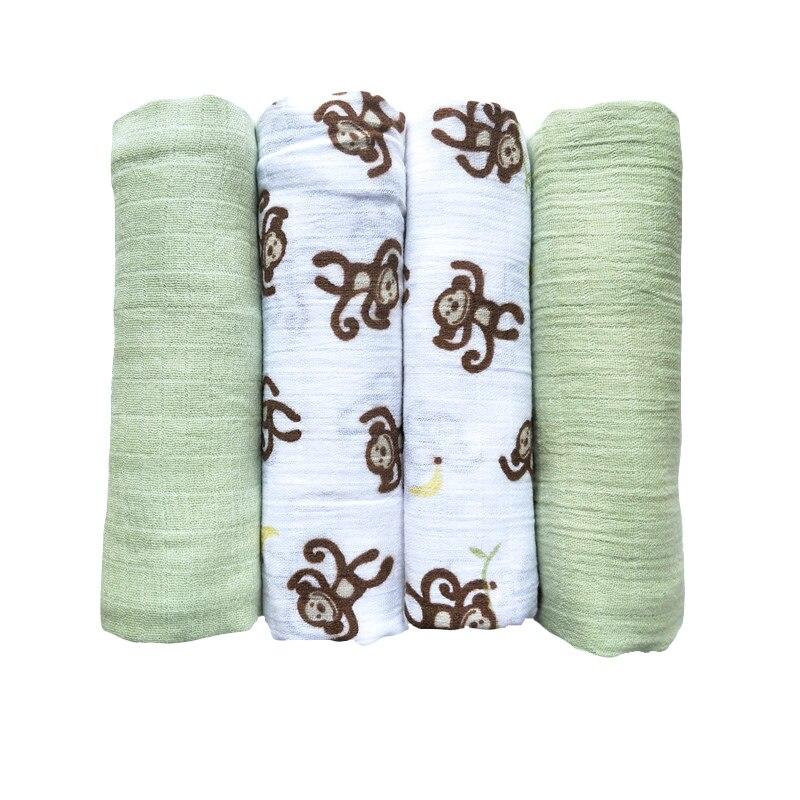 Подгузники из муслина, многоразовая ткань для подгузников, хлопковое Пеленальное Одеяло, банное полотенце для новорожденного, наволочка дл...