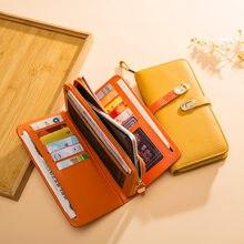 Дизайнерский кошелек из натуральной кожи модный Дамский бумажник