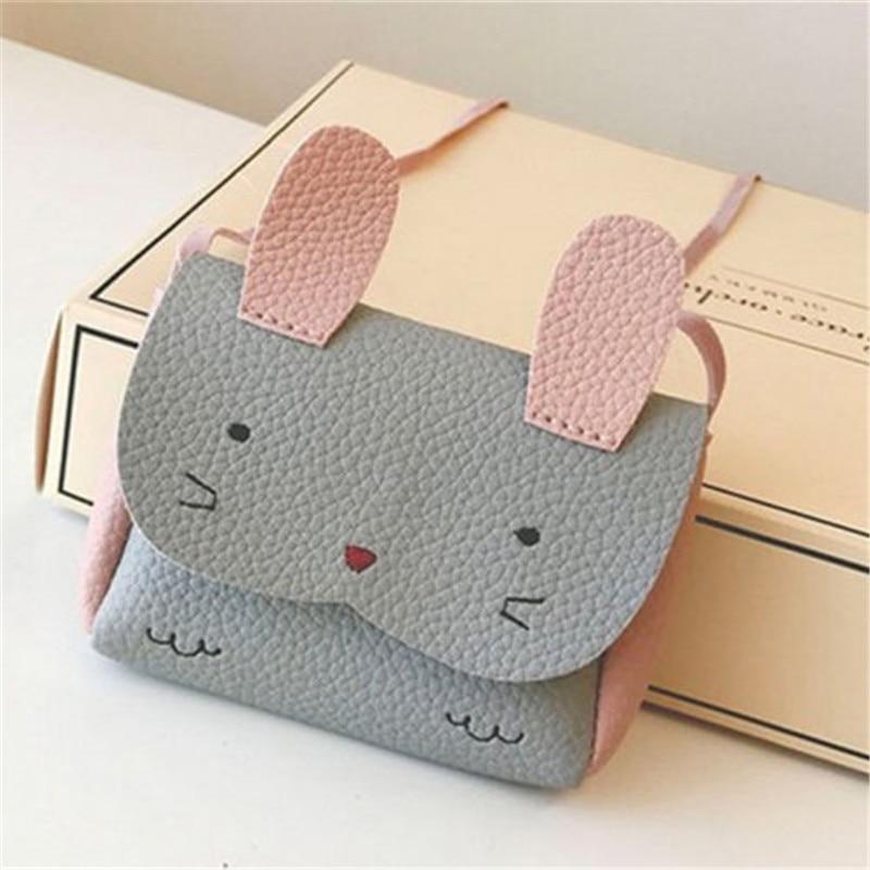 Kids Handbag Children PU Leather Wallet Messenger Bag Cute Cartoon Baby Girls Crossbody Shoulder Bags gift