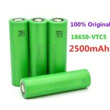 Bateria recarregável 3.6 v volt, bateria de 2500mah vtc5 18650, substituição de 3.6 v 2500mah 18650