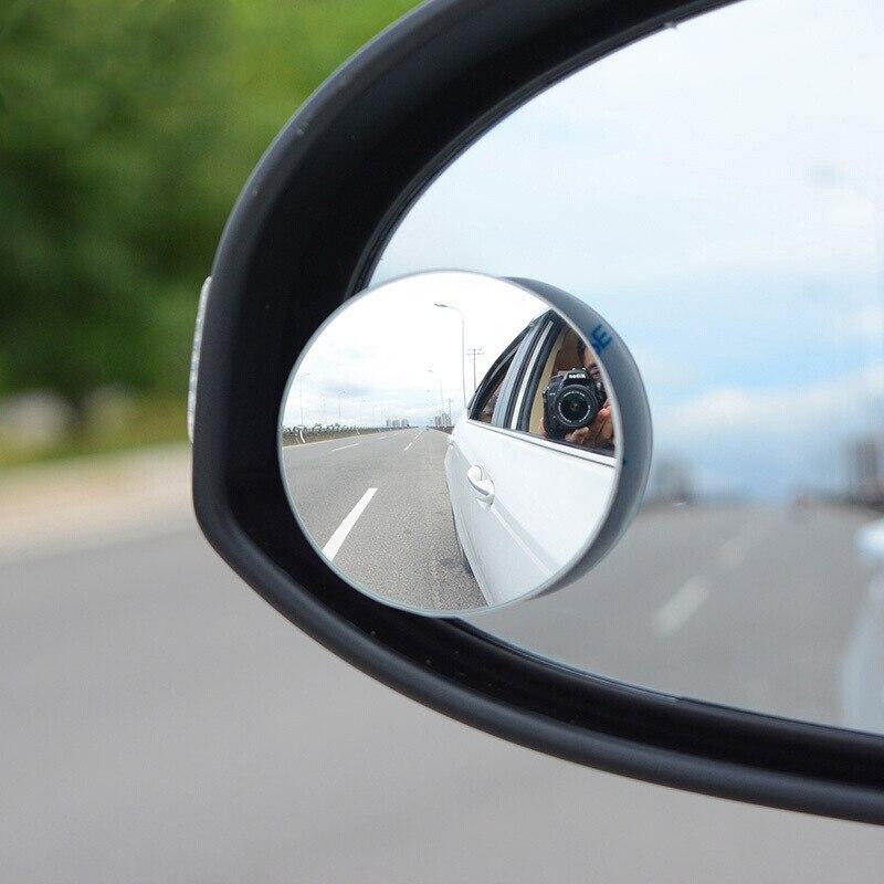 1/2 pces hd 360 graus grande angular ajustável retrovisor do carro espelho convexo espelho retrovisor automático de volta espelho veículo ponto cego sem aro
