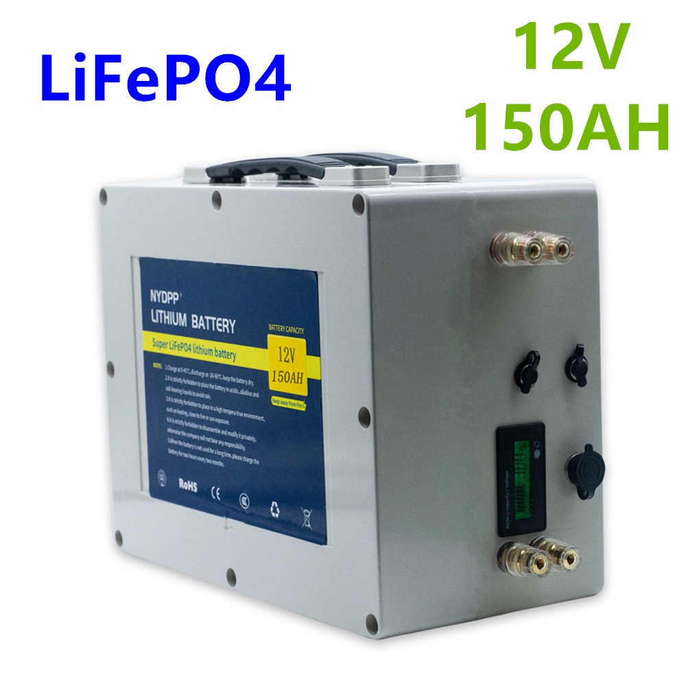 Lifepo4 <font><b>12v</b></font> <font><b>150ah</b></font> <font><b>battery</b></font> pack lifepo4 <font><b>12V</b></font> <font><b>lithium</b></font> <font><b>battery</b></font> pack built-in BMS for inverter,electric motor of the boat image