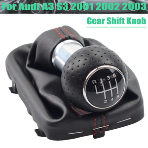 Car Styling Manual Gear Shift Shifter Lever Knob Gaiter Boot Cover Case Collar For Audi A3 S3 2001 2002 2003 Car 5 6 Speed
