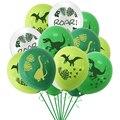 10 шт 12 дюймов динозавр конфетти латексные шары джунгли диких животных аксессуары для вечеринки, дня рождения воздушные шары детского дня ро...
