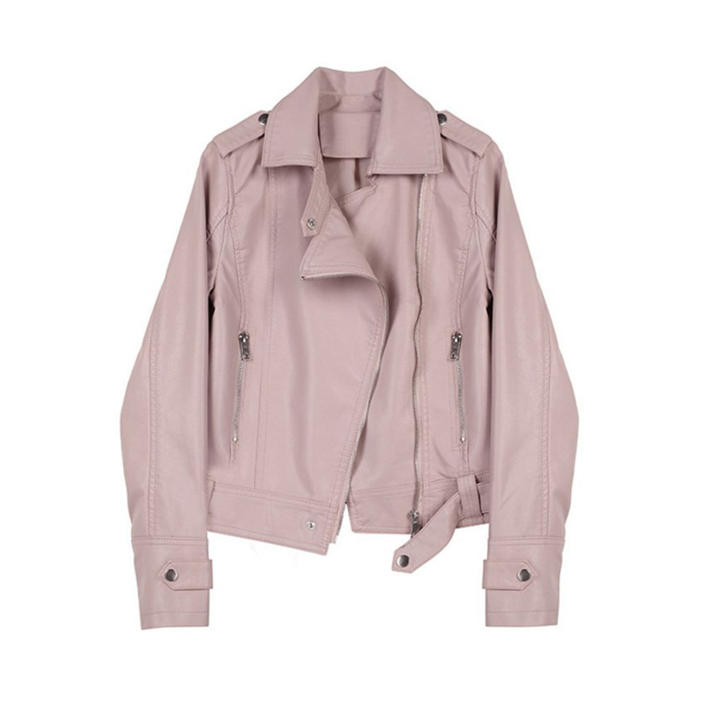 2019 Autumn PU   Jacket   Women Casual   Basic   Coats Slim Ladies   Basic     Jackets   Outwear Zipper Chic Fashion   Jackets   Tops Femme