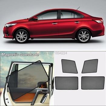 Car Full Side Windows Magnetic Sun Shade UV Protection Ray Blocking Mesh Visor For Toyota Vios 2018
