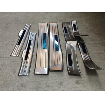 Cubierta de pegatina de coche interior + Umbral de exterior Pedal Umbral de puerta placa de desgaste para Honda HRV HR-V Vezel 2014 2015 2016 2017 2018
