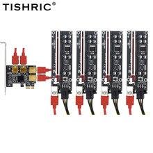 TISHRIC PCI 1 до 4 адаптера USB 3,0 PCIE Riser Card 6pin VER009S-PLUS 009S плюс стояк Графика удлинитель адаптер карты