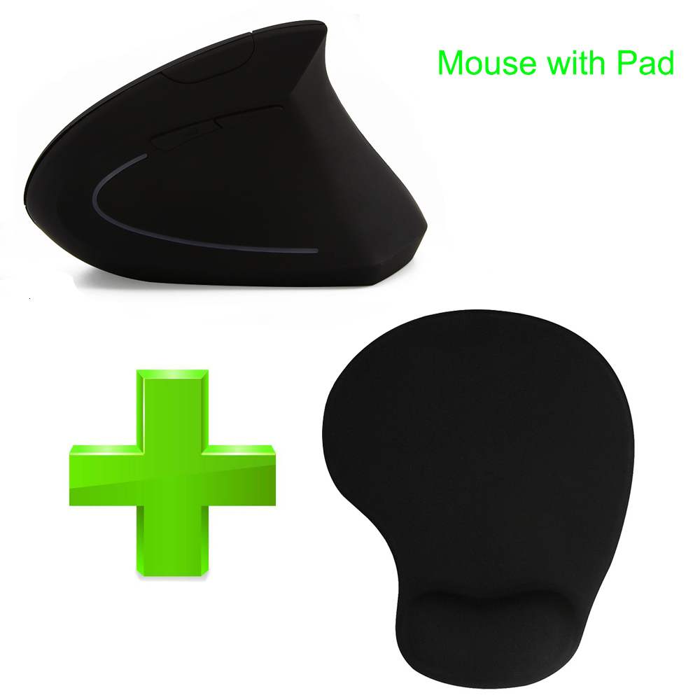 Wireless Vertical Mouse Portable Ergonomic Computer Mause Optical Mice With Mouse Pad For Xiaomi Notebook PC