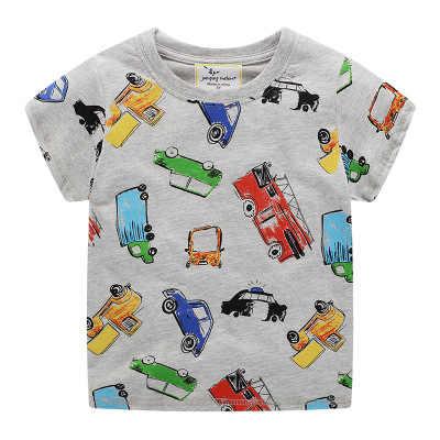 ילדי חולצה לתינוקות בני בעלי החיים הדפסת דינוזאור בני T חולצה לילדים חולצות tees Cartoon ילדי חולצות בגדים 2-7 שנים