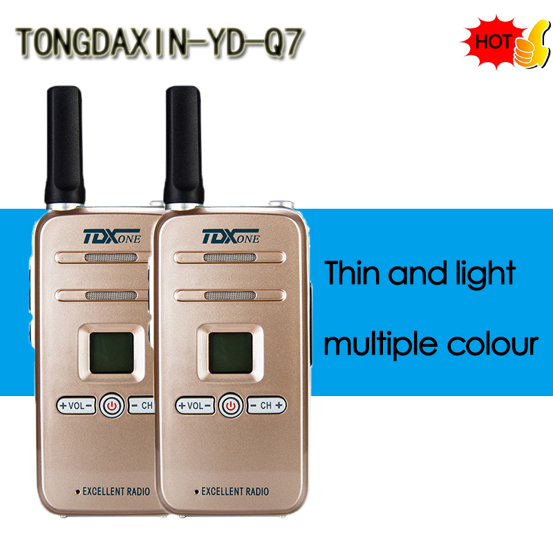 TDXONE TD Q7 Handheld Walkie Talkie Portable Radio 5W High Power UHF Handheld Two Way Ham Radio Communicator HF Transceiver