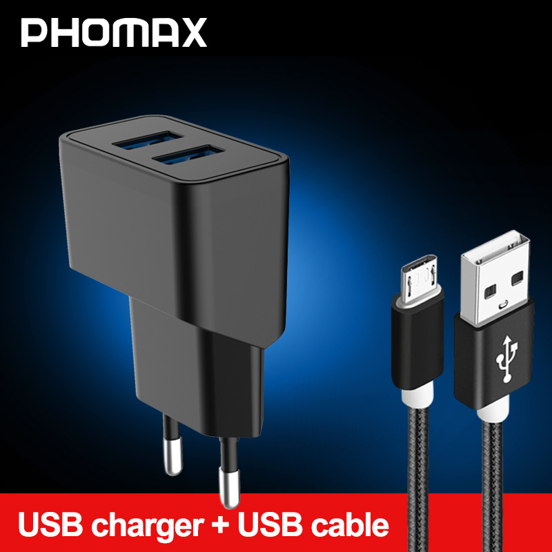 PHOMAX 5V 2.1A USB Charger Universal Portable Travel Wall Charger For IPhone X Xs Xr 8 Plus 6s Samsung S8 S9 Xiaomi Mi8 7 Huawei