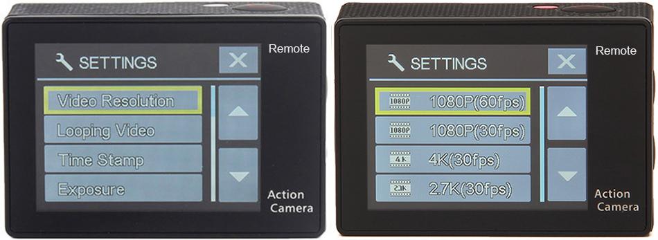 """EKEN H9R/H9 Ultra HD 4 K/30fps WiFi 2,0 """"170D impermeable bajo el agua 15"""