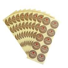 100 шт/лот Благодарим скрапбукинг круглая печать этикетка Подарочная