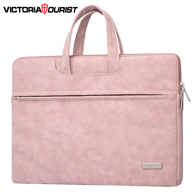 "Victoriatourist Laptop Bag 14"" 15.6"" Men Women Business Handbag Stylish Briefcase Multi-layer Space Messenger Bag"