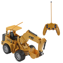 Creative 1 Pcs 1:24 5CH RC Simulated Contruction Excavator Engineering Vehicle With Light