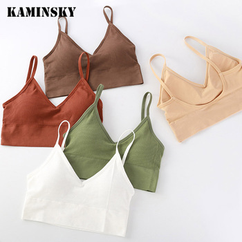 Kaminsky Girls Underwear Soft Cotton Bra for Kids Teenager Training Small Vest Underwear Puberty Clothing image