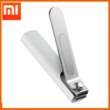 Xiaomi Mijia coupe ongles en acier inoxydable avec couverture anti éclaboussures tondeuse pédicure soins coupe ongles fichier professionnel