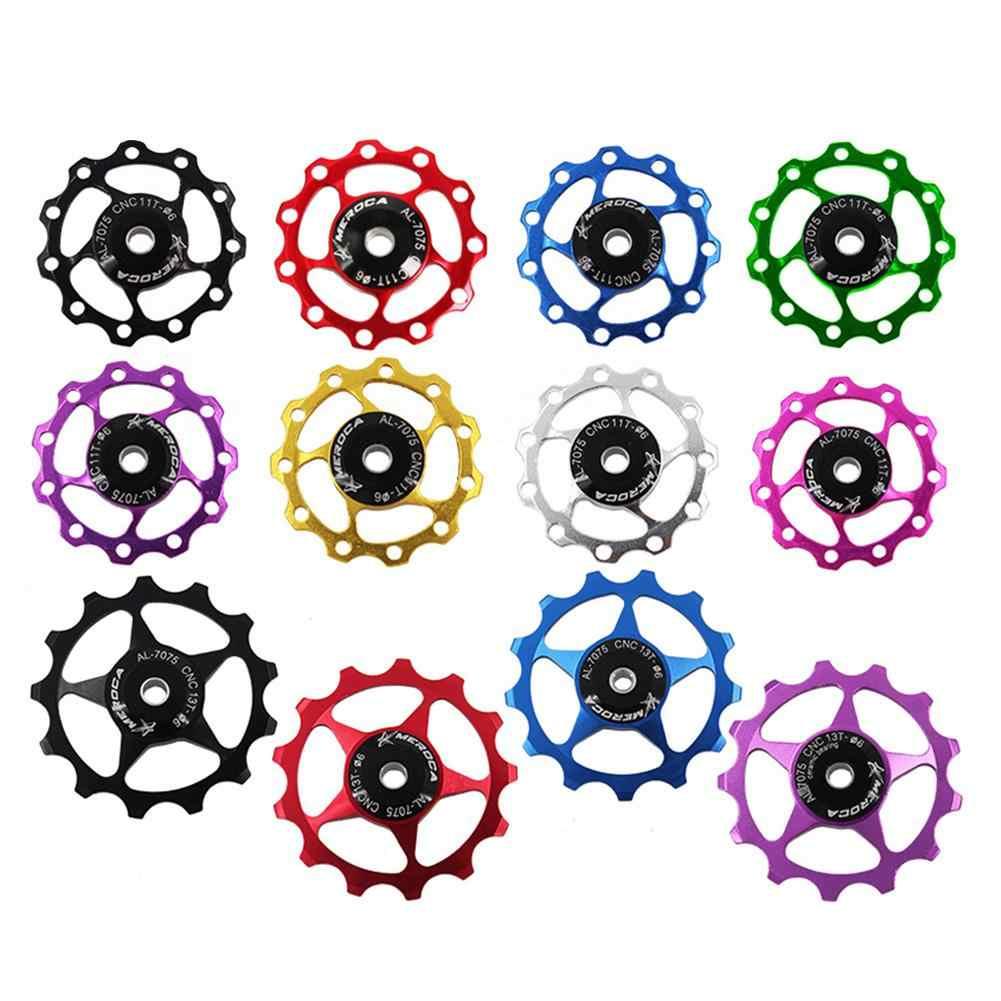 11 t/13 t アルミ合金 mtb マウンテンバイク自転車リアディレイラーホイールロードバイクガイドローラーのための 7/8/9/10 速度