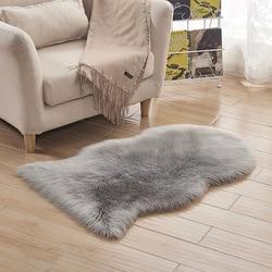 Seel doux artificiel en peau de mouton tapis tapis chaise couverture laine artificielle chaud poilu tapis peau fourrure tapis pour salon