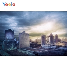 Yeele Photophone Halloween Backdrop Pumpkin Lantern Tomb Bat Forest Tombstone Vinyl Photography Background For Photo Studio