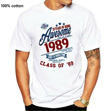 Father Day Gift Mens 30th Birthday T-Shirt 30 YEARS OF BEING AWESOME Class Of 89 Funny Gift Top