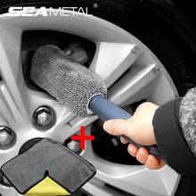 Brosse de nettoyage de voiture, brosses de nettoyage de détail automobile, serviettes en microfibre, brosses de roues de voiture, nettoie fortement la poussière cachée dans les voitures
