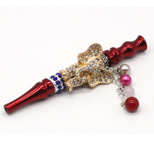 Animal Shaped Metal Arab Shisha Mouth Tip with Diamond Narguile Filter Water Smo