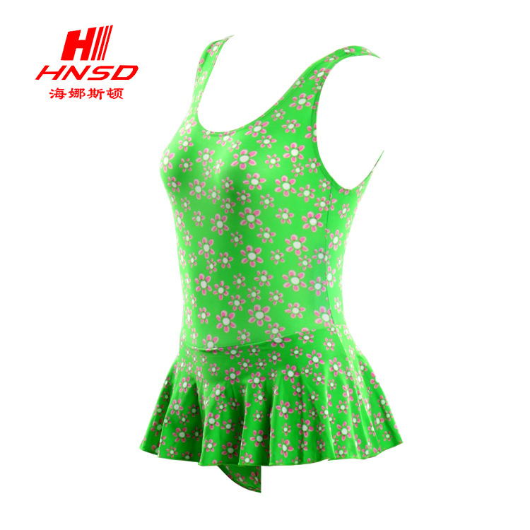 Manufacturers Processing Girls Dress-One-piece Swimming Suit Floral Cute KID'S Swimwear Workmanship Fine