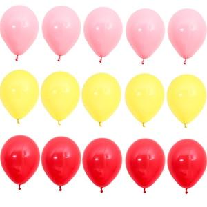 Image 3 - 15pcs 10 inch 짙어지면서 라텍스 풍선 매트 풍선 빨간색 파란색 노란색 여러 가지 빛깔의 풍선 생일 파티 웨딩 용품