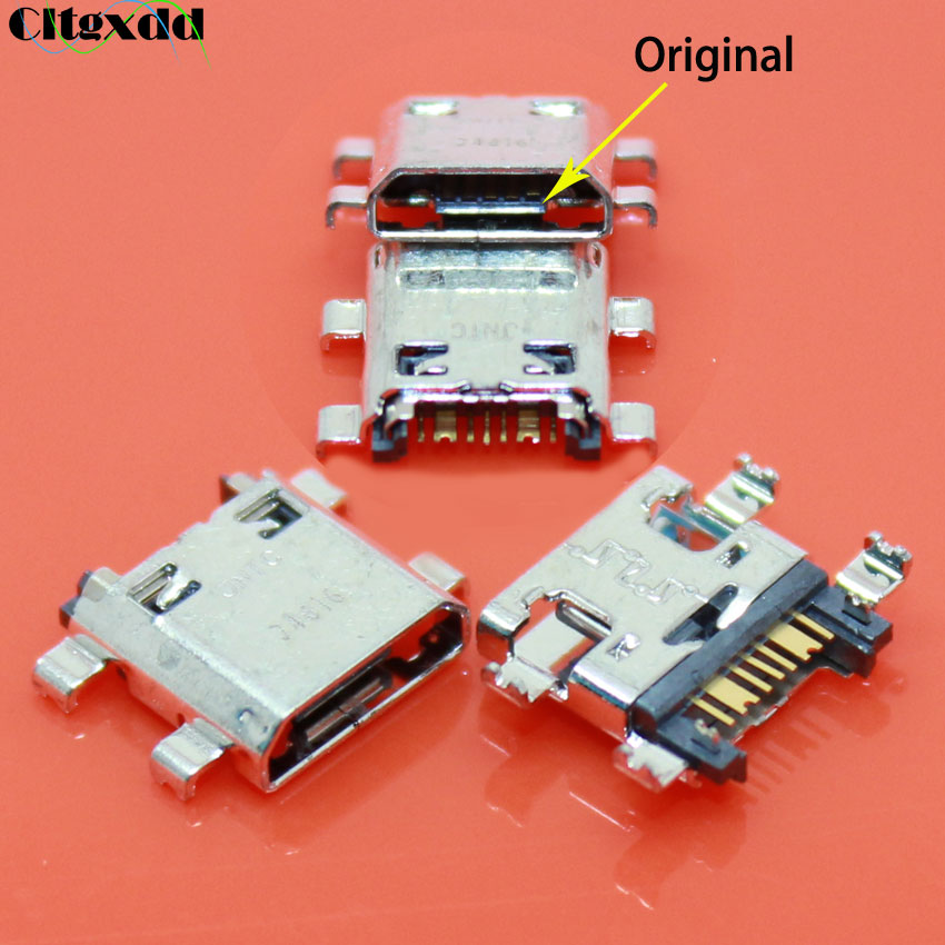 Cltgxdd 100PCS For Samsung Galaxy J5 <font><b>J510</b></font> 2016 J700 J700F J7008 J7 J710 2016 <font><b>USB</b></font> Charging Port Connector Plug Jack Socket Dock image