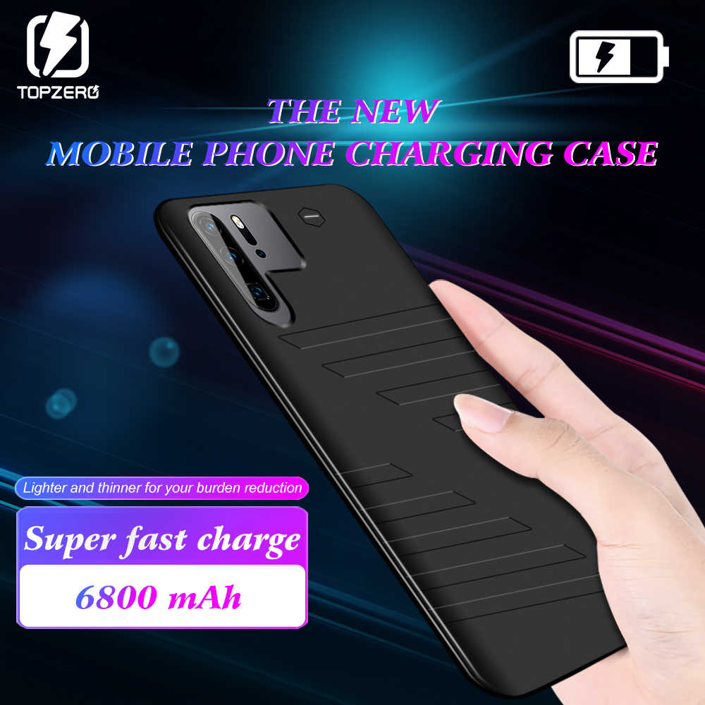 TOPZERO Battery Charger Case For Huawei P30 6800mAh Portable Slim Power Bank Case Cover For Huawei P30 PRO Power Charging Case