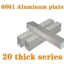 Flat-Bar-Plate-Sheet Aluminum 6061 20mm with Wear-Resistance for Machinery-Parts 1pc