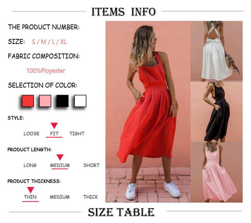 Goocheer Summer Women 39 s Sleeveless Maxi Dress Solid Top Long Skirt Beach Sundress in Dresses from Women 39 s Clothing