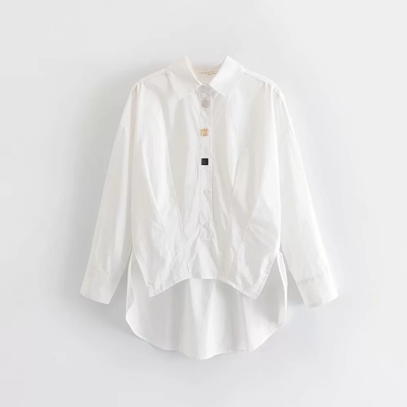 Solid Women Oversize Shirt White Smock Leisure Lady Long Sleeves Blouse 2019 Autumn Female Loose Tops S6126
