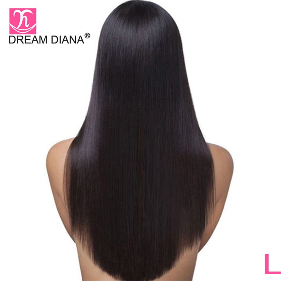 DreamDiana Brazilian Silky Straight Full Lace Wig Glueless Wigs 8