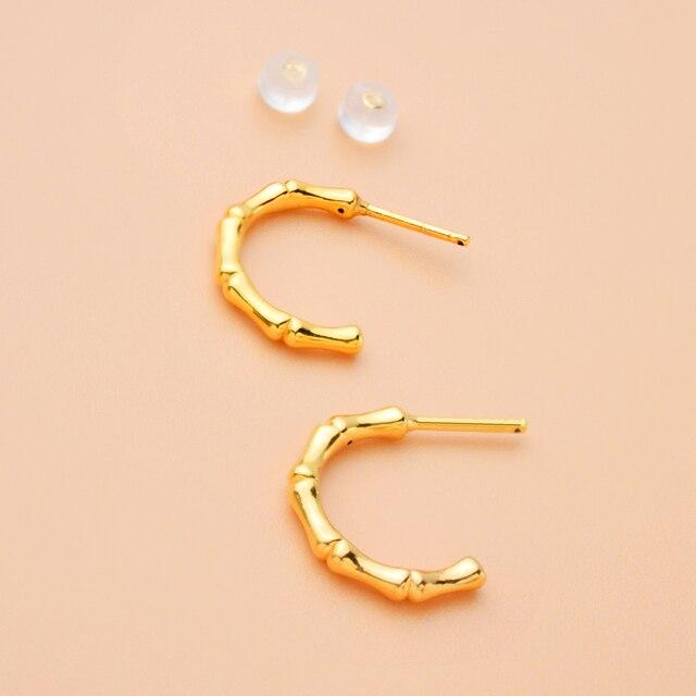 ZHIXI 100% 18k Yellow Gold Stud Earrings Real 5D Fine Jewelry AU750  Fashion Wedding Birthday Gift For Women 2021 2