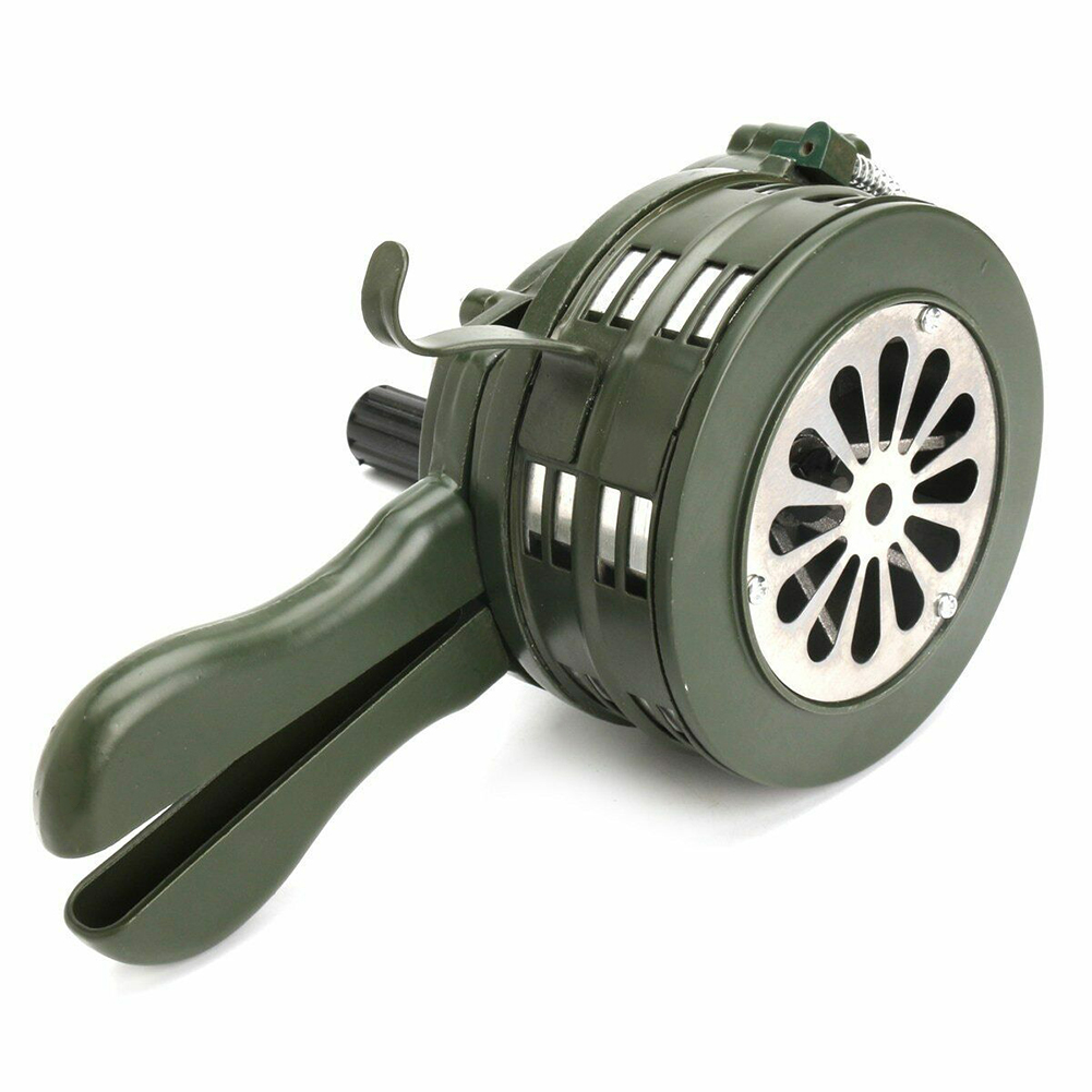 Hand Crank Siren Horn 110dB Manual Operated Metal Alarm Air Raid Emergency Safety DU55