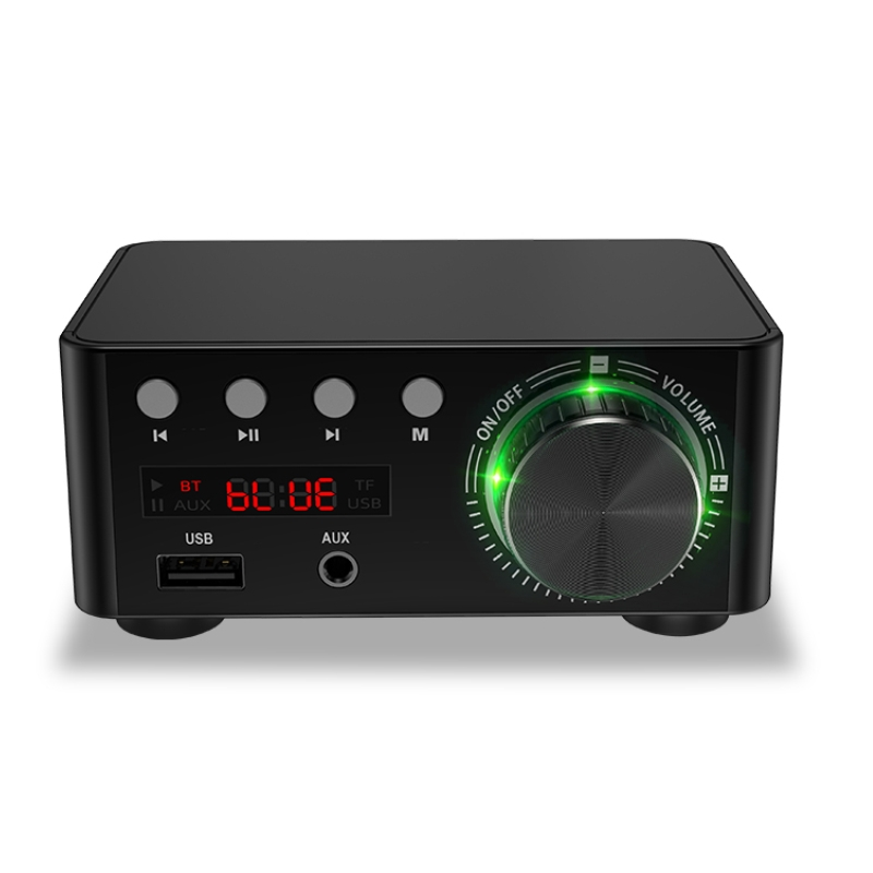 HIFI Bluetooth 5.0 Digital Power Audio Amplifier board 50WX2 Stereo AMP Amplificador Home Theater USB TF Card Player 1