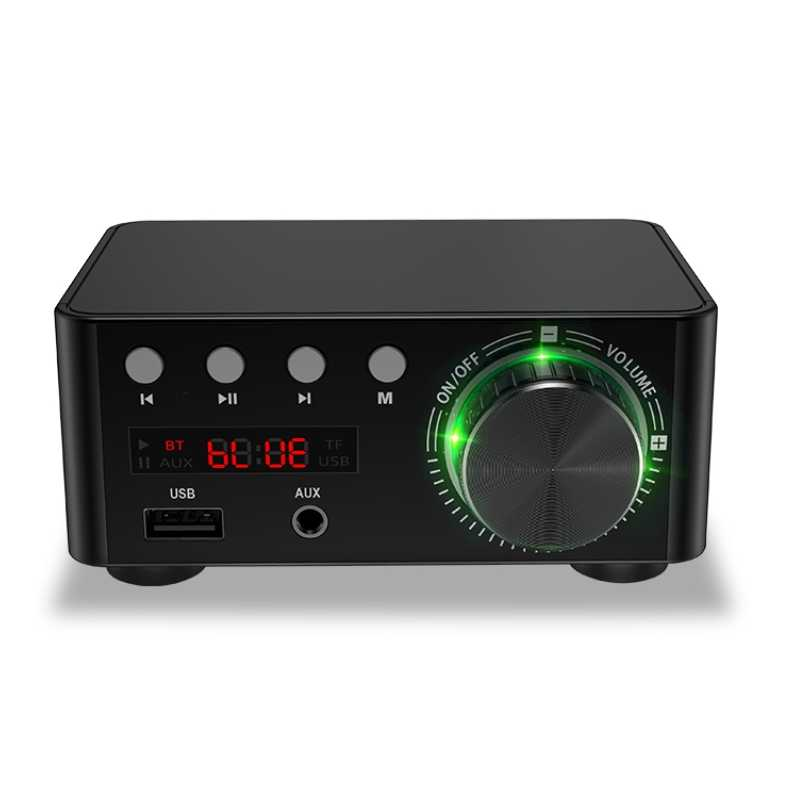 HIFI Bluetooth 5.0 Digital Power Audio Amplifier Papan 50WX2 Stereo AMP Amplificador Home Theater USB TF Card Player