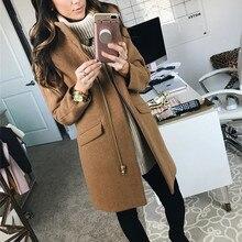 Женское теплое пальто с длинным рукавом, на молнии Толстовка С Карманами пуловер длинное пальто Верхняя одежда Manteau Femme Hiver элегантное пальто плюс размер