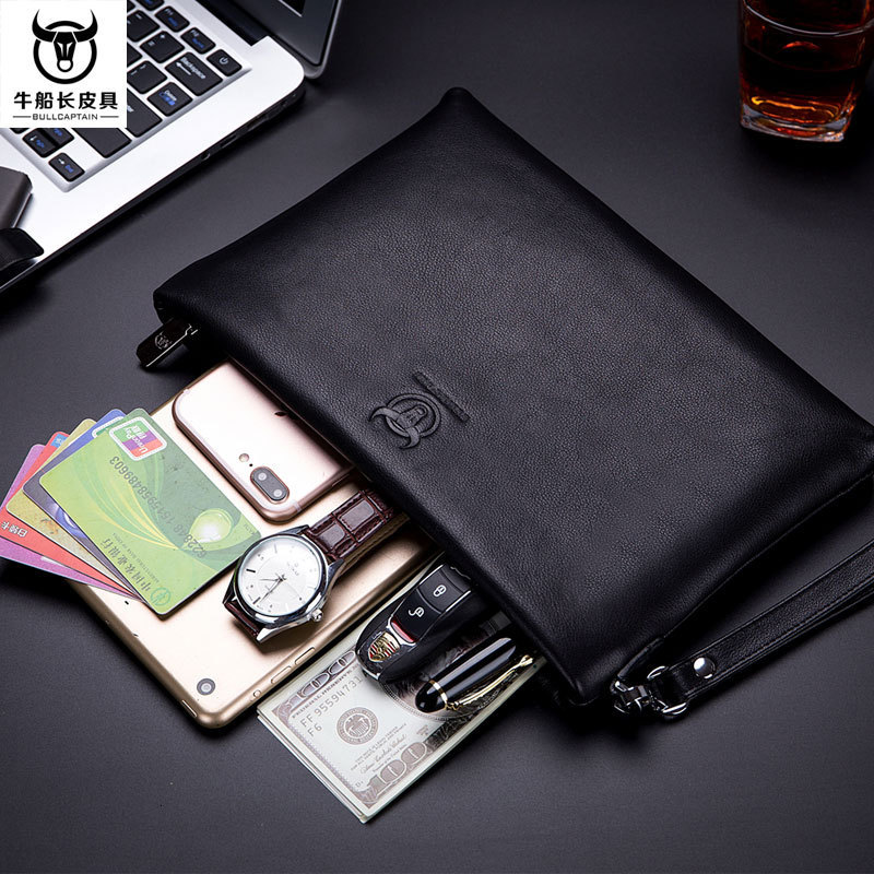 Man Take Soft Cowhide More Function Package Zipper Will Capacity Business Affairs Men Messenger Bag Briefcase
