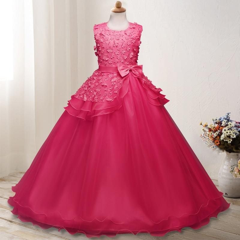 Hot Selling Childrenswear Girls Autumn Clothing Princess Dress Big Boy Tutu Butterfly Formal Dress Piano Costume