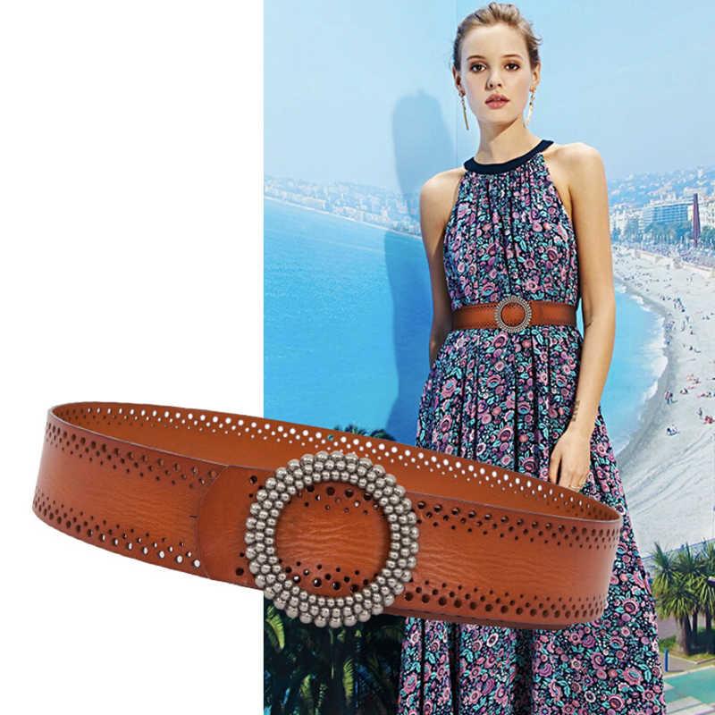 Cinturon mujer, дизайнерские ремни для женщин, высокое качество, натуральная кожа, ремни для женщин, модный зеленый, коричневый ремень, широкий, femme, роскошный, большой