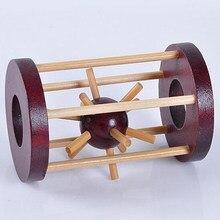 Quebra-cabeças de madeira bloqueio inteligência kong ming bloqueio tirar cravado bola cérebro teaser para crianças escritório decoração de mesa adultos brinquedo puzzle