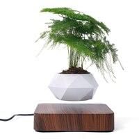 Levitating Air Bonsai Pot Rotation Planters Magnetic Suspension Flower Floating Pot Potted Plant Desk Decor Floating Pot Planter