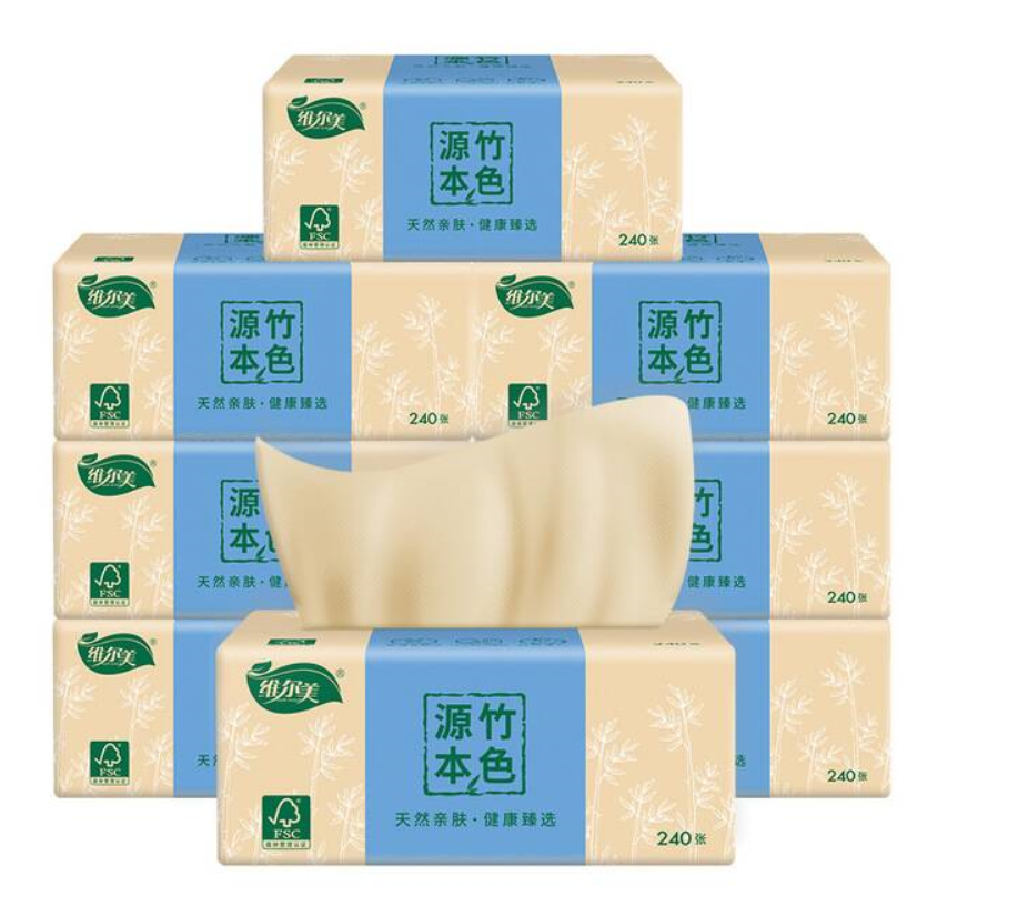 40 Bags/box Of Vermeer Bamboo Pulp Full Box Of Toilet Paper Household Napkin Paper Towel Wholesale Paper Pumping Custom