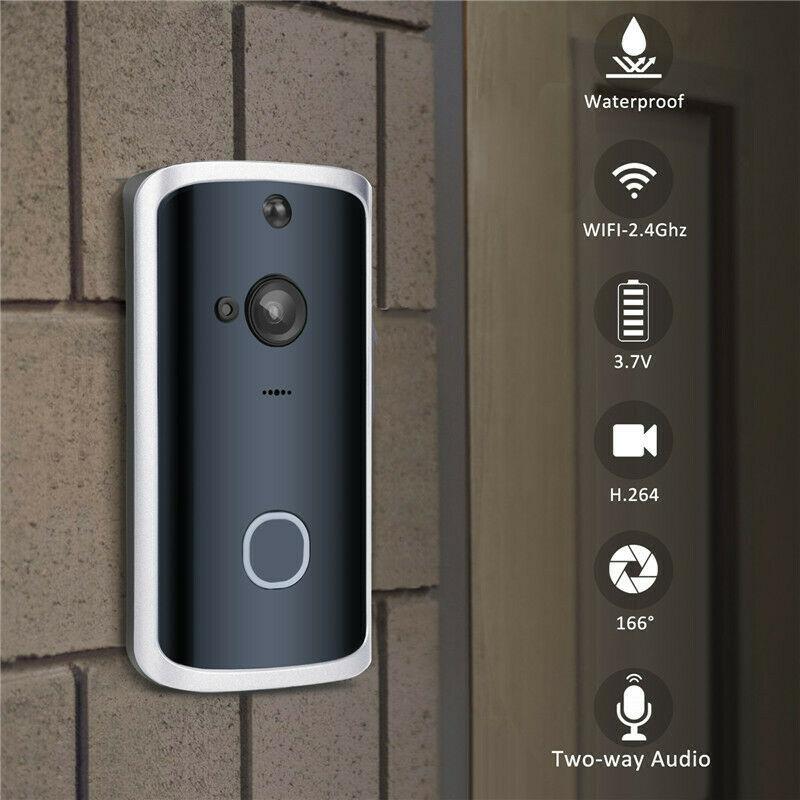 Universal Smart Door Bell Wireless Ring Doorbell WiFi Visual Camera Phone Anti-theft Alarm Home Security Timbre