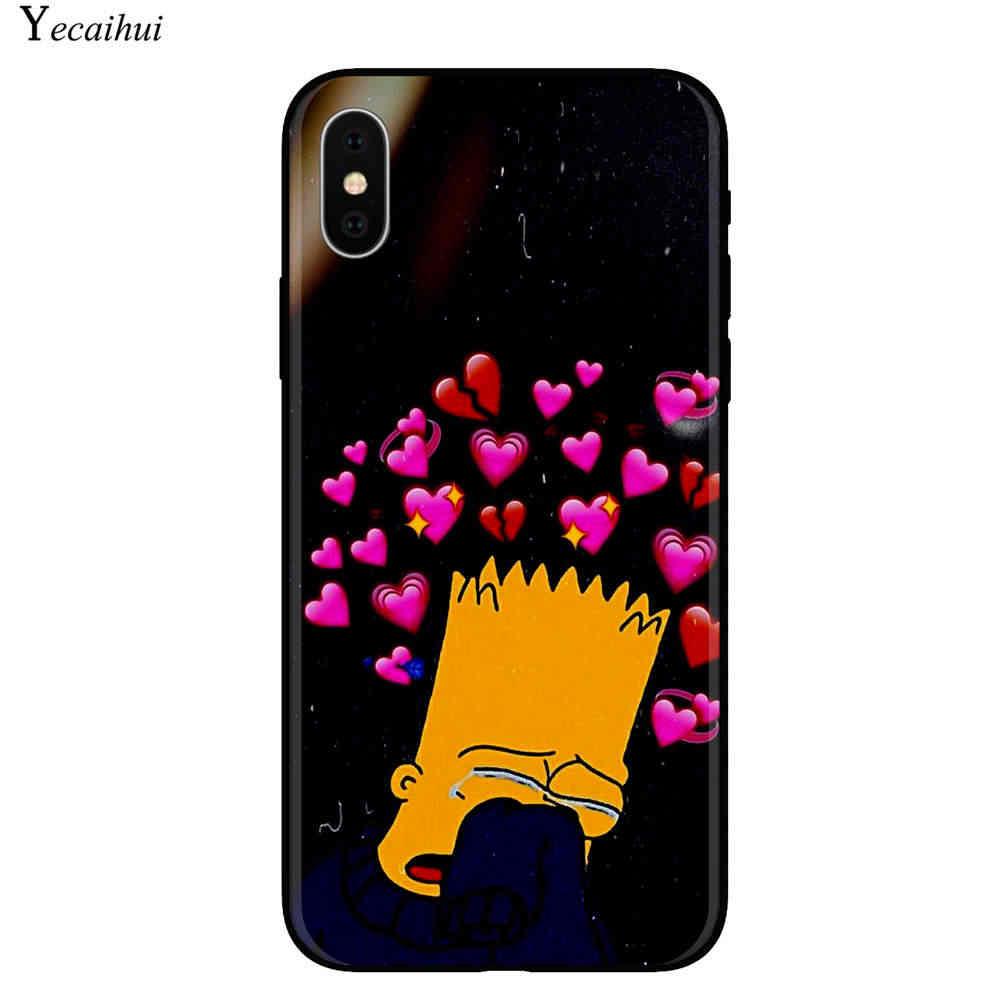 Homer J. simpson Hitam Silikon Ponsel Case Cover UNTUK iPhone 5 5S SE 6 6 S 7 7 Plus X 10 xr X Max Case untuk iPhone 11 Pro Max Bart